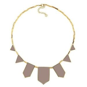 House of Harlow 1960 5 Station Leather Necklace